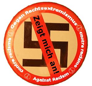 Durchgestrichenes Hakenkreuz als Zeichen GEGEN Rechtsextremismus!!!